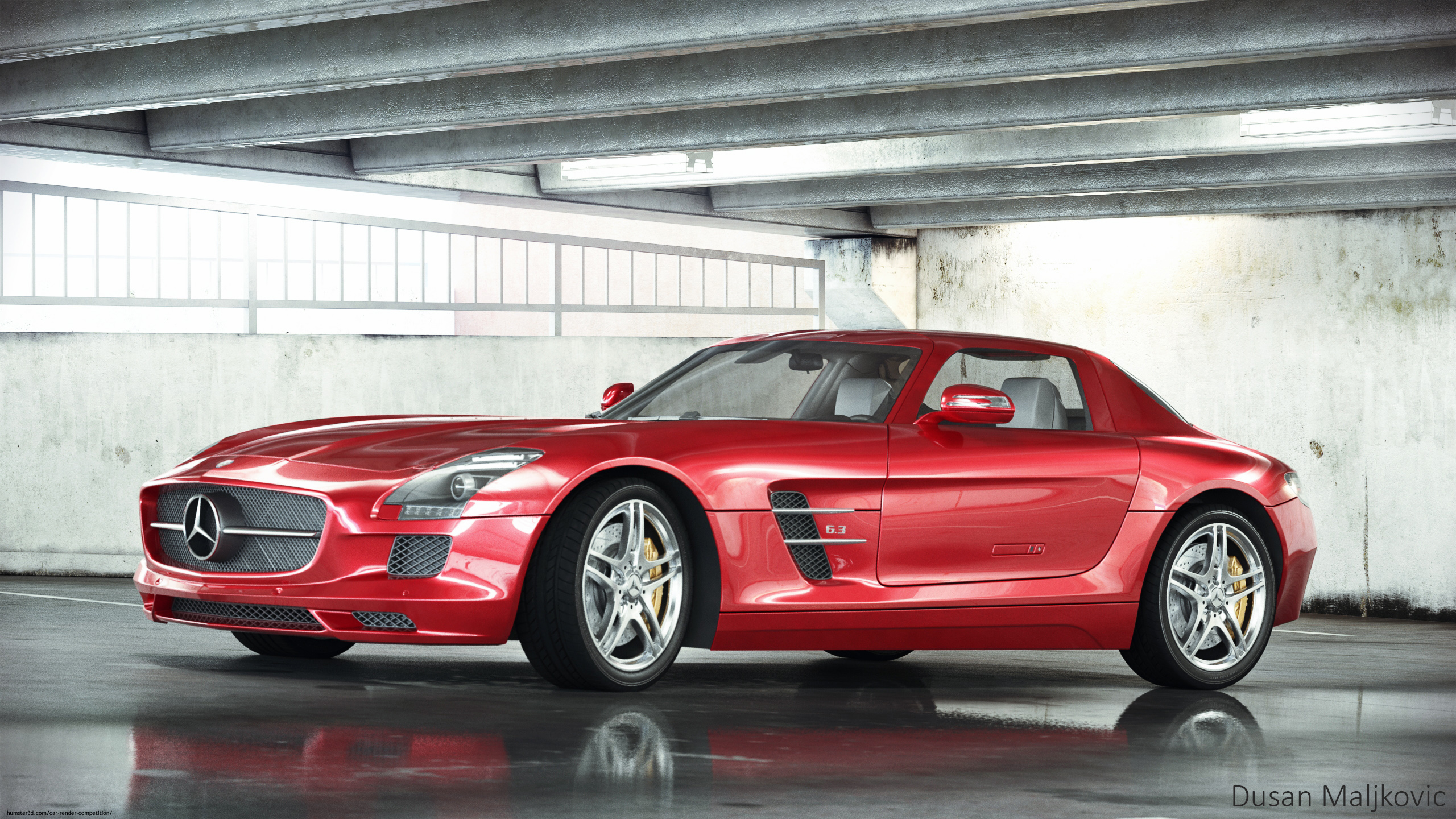 Mercedes-Benz SLS AMG 3d art