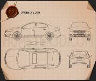 Citroen C4 L 2013 Blueprint
