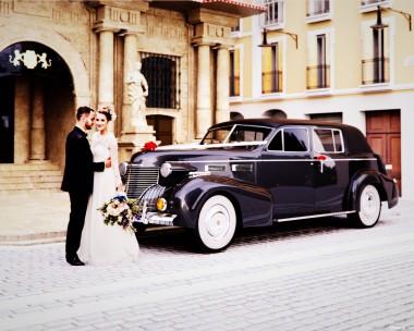 A classic wedding car