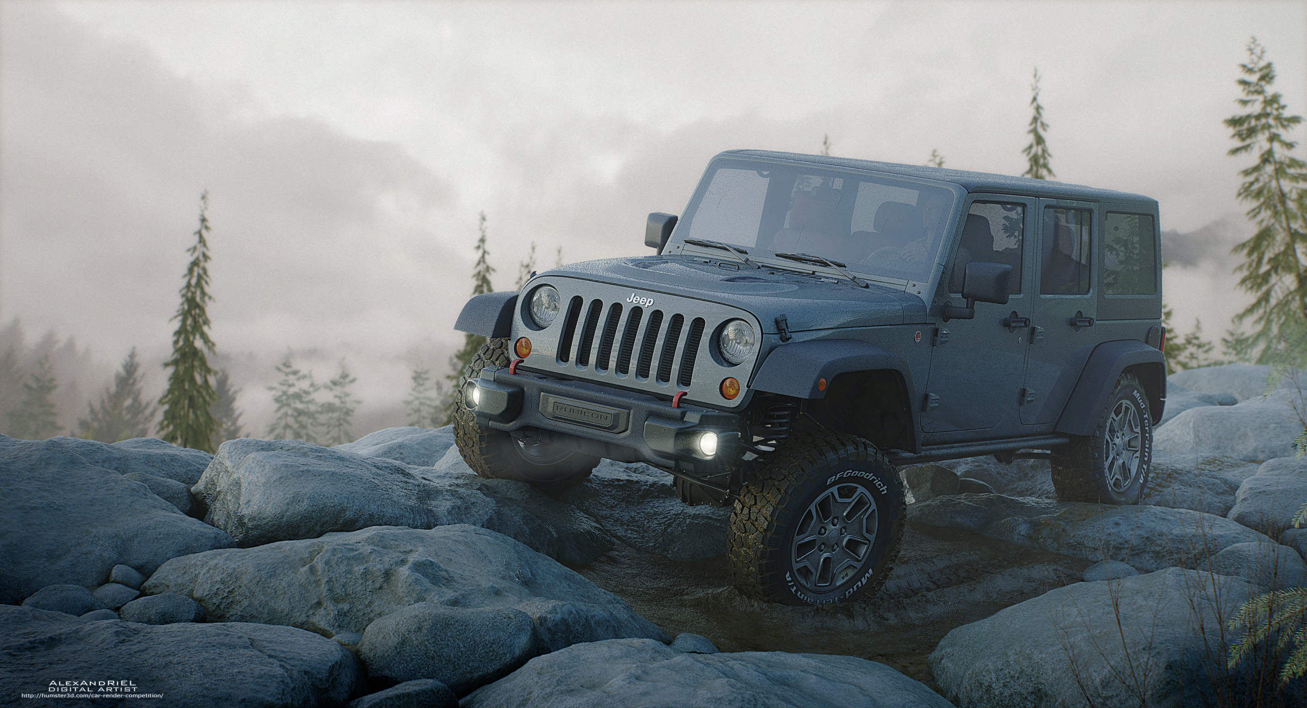 Jeep Rubicon 10th Anniversary 3d art