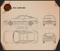 Opel Calibra 1990 Blueprint