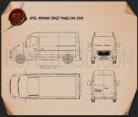 Opel Movano Panel Van 2010 Blueprint