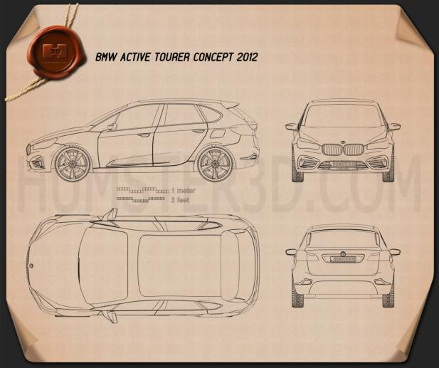BMW Active Tourer 2012 Blueprint