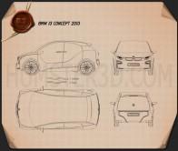 BMW i3 concept 2012 Blueprint
