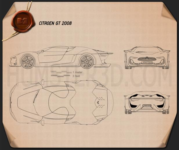 Citroen GT 2008 Blueprint
