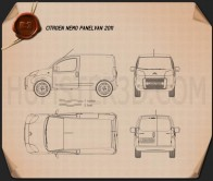 Citroen Nemo Panel Van 2011 Blueprint
