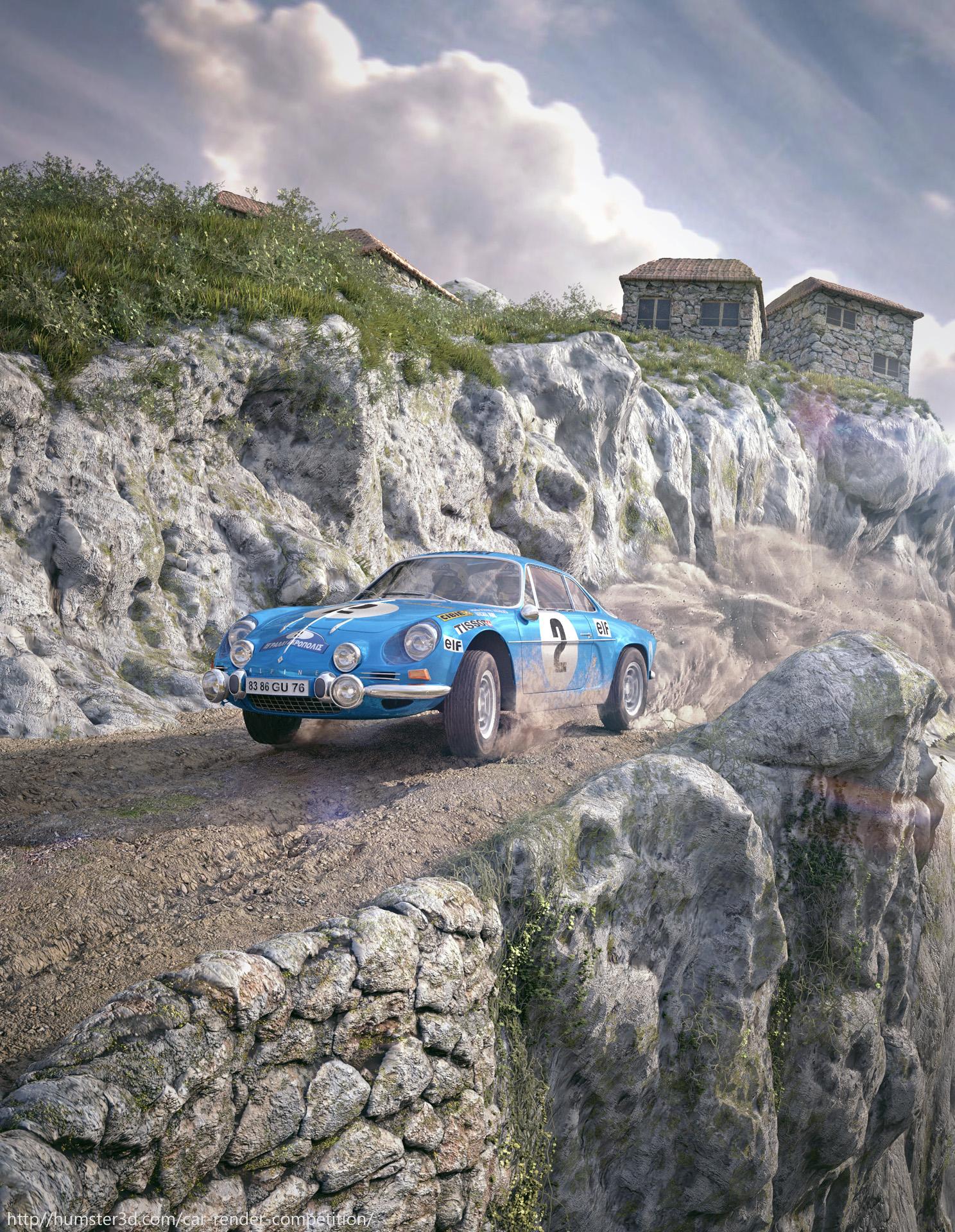 Renault Alpine 1971 Rally Acropolis by Antoni Dendrou
