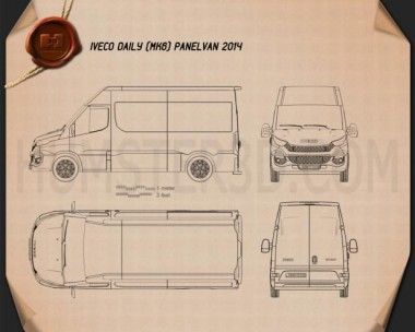 Iveco Daily Panel Van 2014 Blueprint