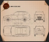 BMW X3 (E83) 2003 Blueprint