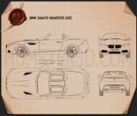 BMW Zagato Roadster 2012 Blueprint