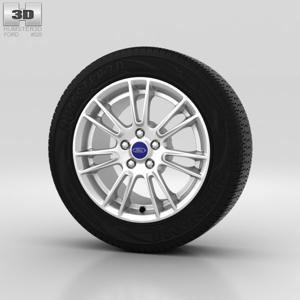 Ford Mondeo Wheel 17 inch 002 3d model