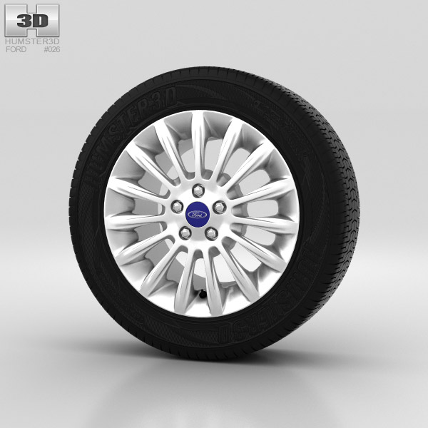 Ford Mondeo Wheel 17 inch 003 3d model