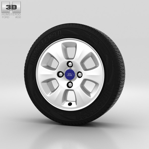 Ford Fiesta Wheel 14 inch 002 3d model