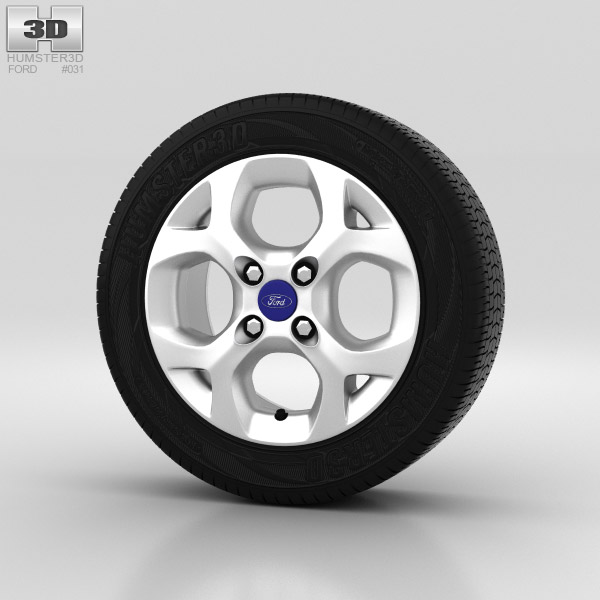 Ford Fiesta Wheel 15 inch 001 3d model