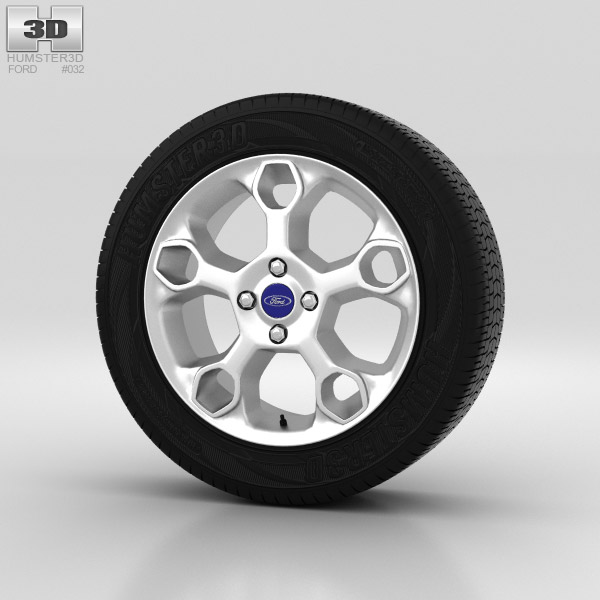 Ford Fiesta Wheel 15 inch 002 3d model