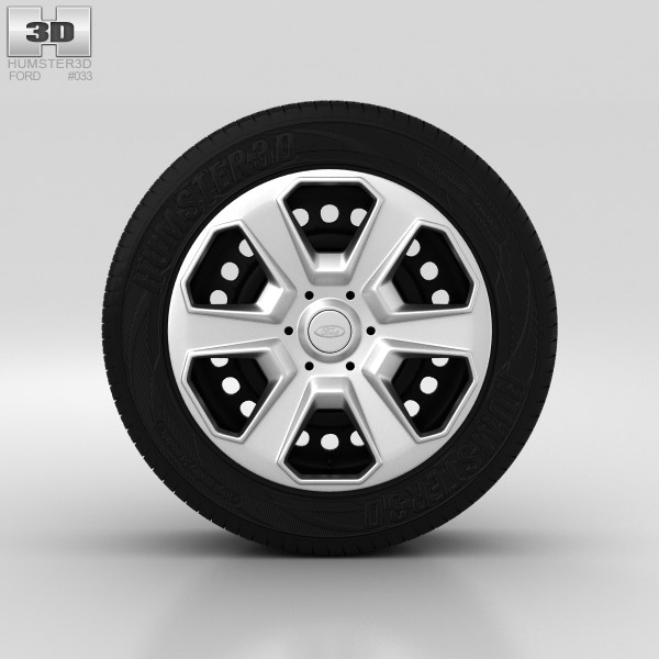 Ford Fiesta Wheel 15 inch 003 3d model