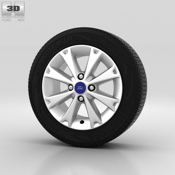Ford Fiesta Wheel 15 inch 004 3d model