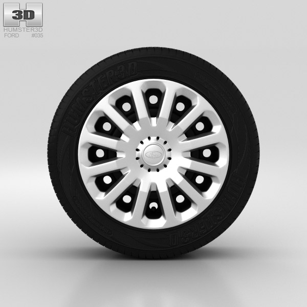 Ford Fiesta Wheel 15 inch 005 3d model