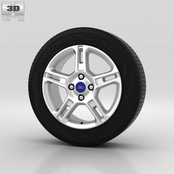 Ford Fiesta Wheel 16 inch 001 3d model