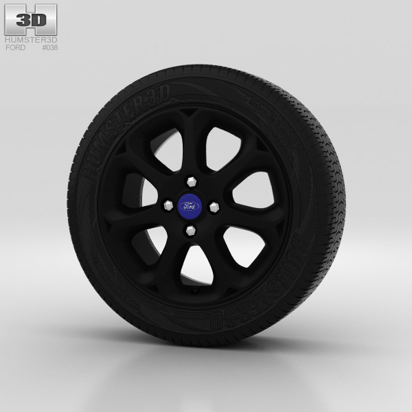 Ford Fiesta Wheel 16 inch 003 3d model