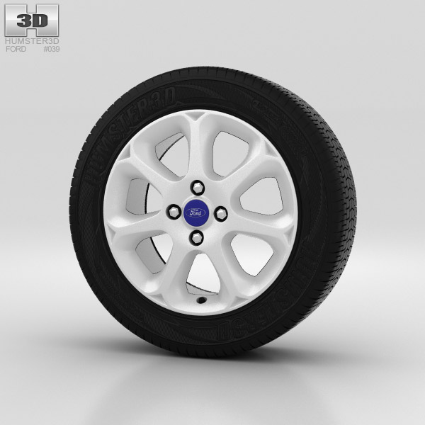 Ford Fiesta Wheel 16 inch 004 3d model