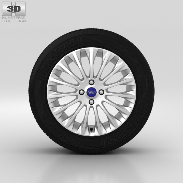 Ford Fiesta Wheel 16 inch 005 3d model