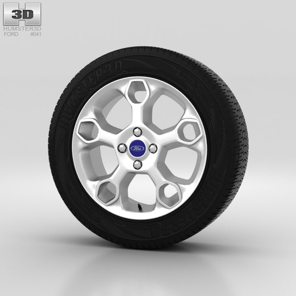 Ford Fiesta Wheel 17 inch 001 3d model