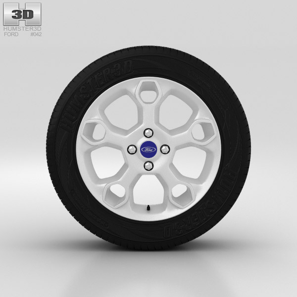 Ford Fiesta Wheel 17 inch 002 3d model