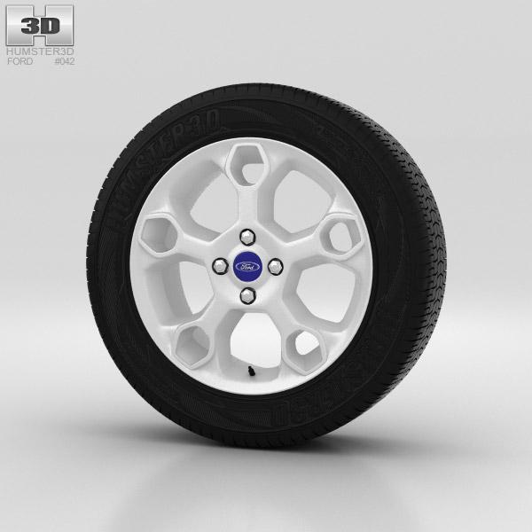 Ford Fiesta Wheel 17 inch 002 3d model
