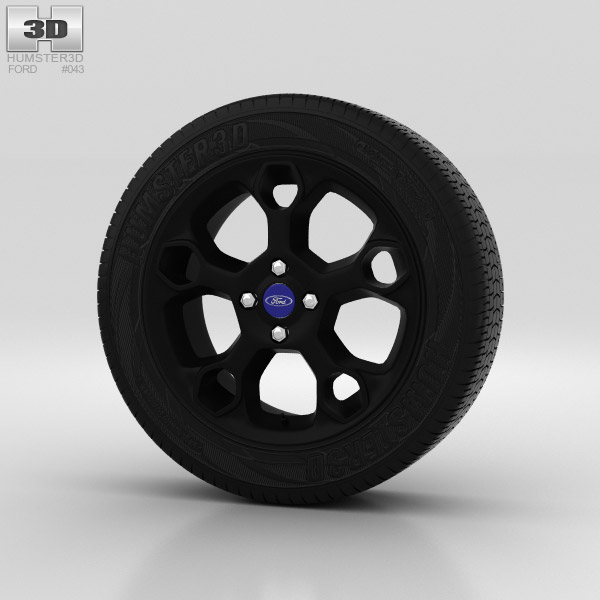 Ford Fiesta Wheel 17 inch 003 3d model