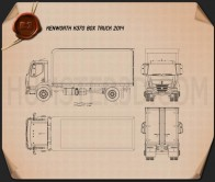Kenworth K370 Box Truck 2014 Blueprint