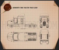 Kenworth T660 Tractor Truck 2008 Blueprint