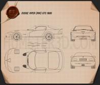 Dodge Viper GTS 1998 Blueprint