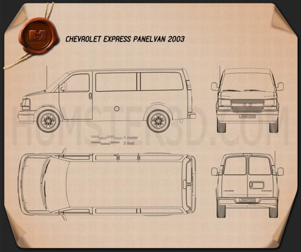 Chevrolet Express Panel Van 2003 Blueprint