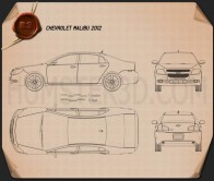 Chevrolet Malibu 2012 Blueprint