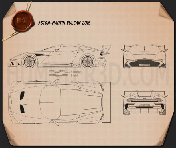 Aston Martin Vulcan 2015 Blueprint