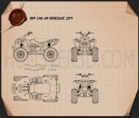 BRP Can-Am Renegade 2014 Blueprint