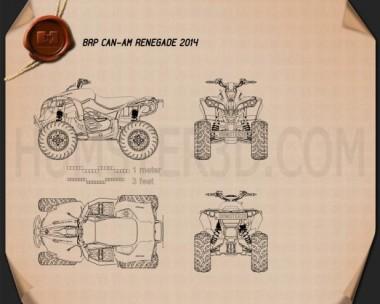 BRP Can-Am Renegade 2014 Blueprint