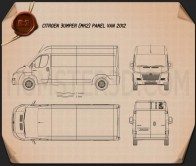Citroen Jumper Panel Van 2012 Blueprint