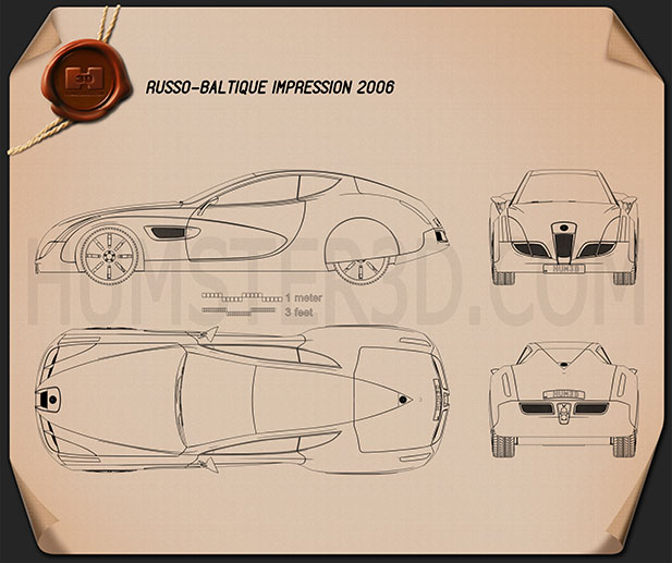 Russo-Balt Impression 2006 Blueprint