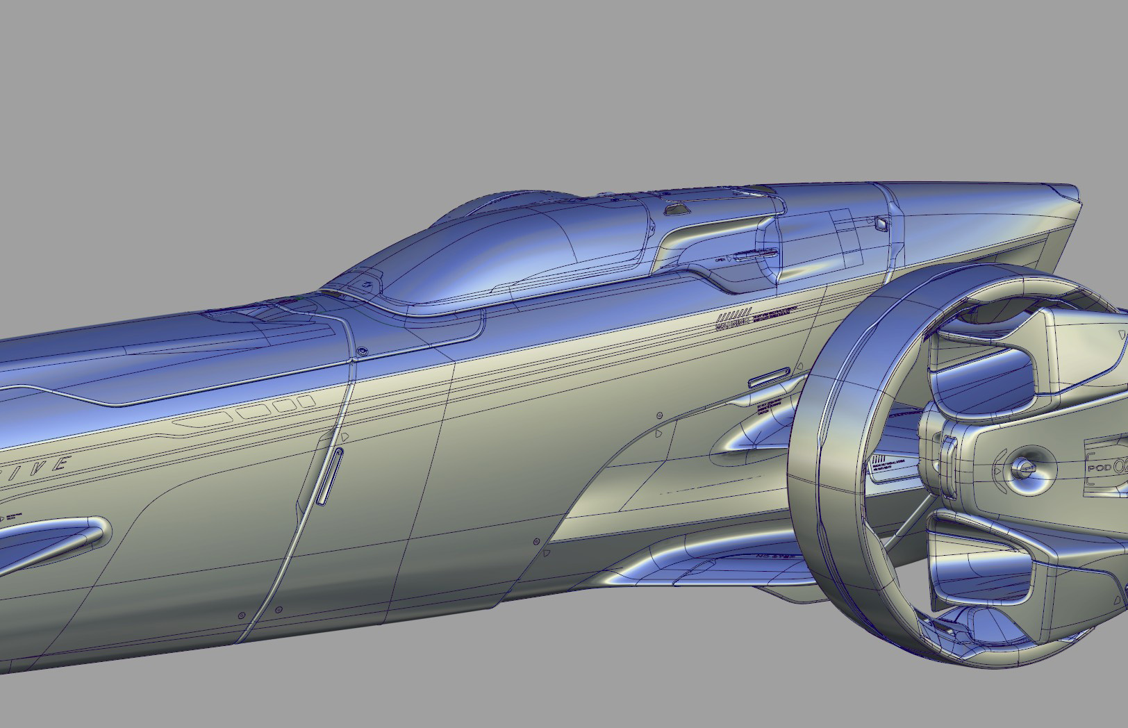 Sci Fi car modeling process