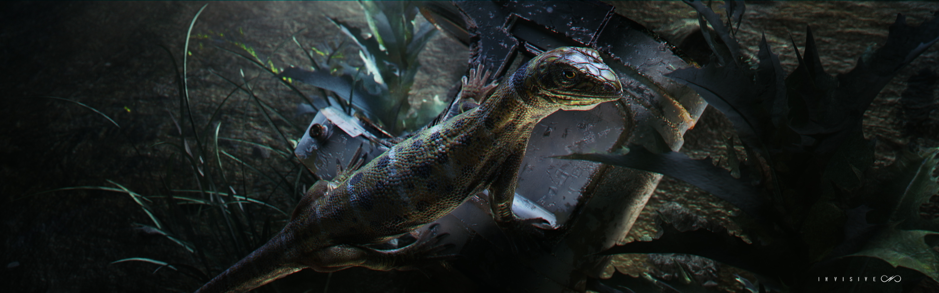 Test render of lizard