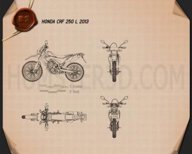 Honda CRF250L 2013 Blueprint