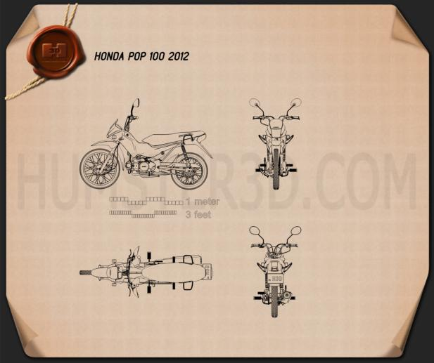 Honda POP 100 2012 Blueprint