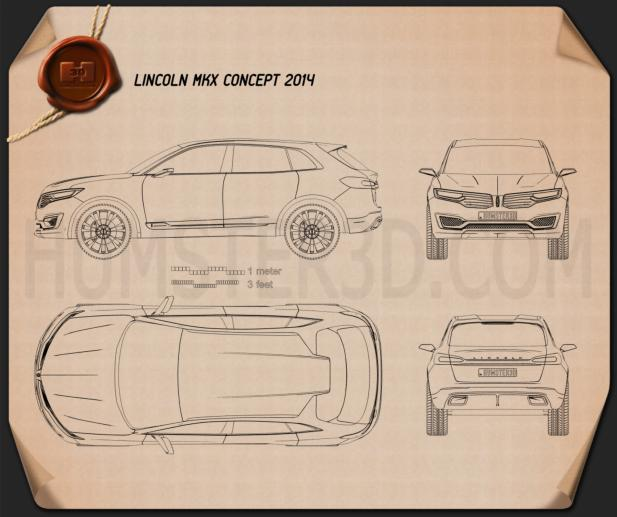 Lincoln MKX 2014 Blueprint