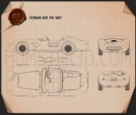Ferrari 625 TRC 1957 Blueprint