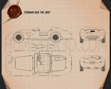 Ferrari 625 TRC 1957 Blueprint