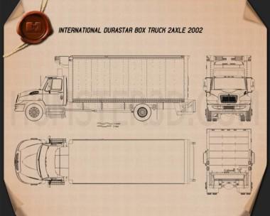 International Durastar Box Truck 2002 Blueprint