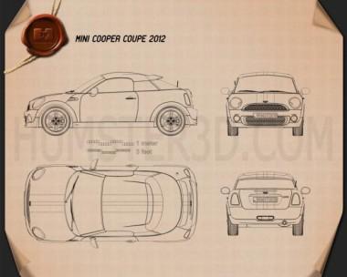 Mini Cooper coupe 2013 Blueprint