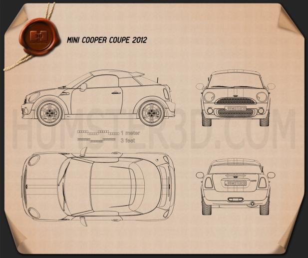 Mini Cooper coupe 2013 Blueprint